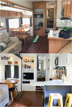 The Noshery | Tiny House Living: Camper Home Reveal | http://thenoshery.com