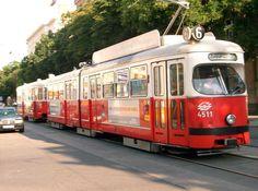 Strassenbahn, Wien. Wonderful Places, Great Places, Austria, Train Light, Rail Europe, Honeymoon Pictures, German People, Heart Of Europe, Rail Car