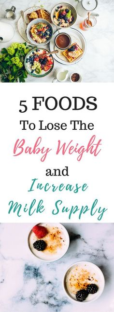 Lose the baby weight but not your milk!