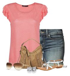 """""""Summer II"""" by colierollers ❤ liked on Polyvore featuring Levi's, MANGO, Nine West, Børn and Coach"""