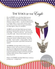 Looking for classy, simple decorations for your Eagle Scout Court of Honor? This listing gets you two posters that can be printed at the following sizes:  - 16 x 20 - 11 x 14 - 8 x 10  One poster explains the symbolism behind the Eagle Scout medal and the other states the Eagle Scout Oath. This would also make a great gift for a loved one receiving his Eagle Scout award.