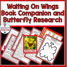 This Waiting on Wings Book Companion and Research Project is a packed with materials for introducing a study of butterflies. This bundle includes guided reading materials that you can use with the book as a mentor text lesson or in guided reading groups.