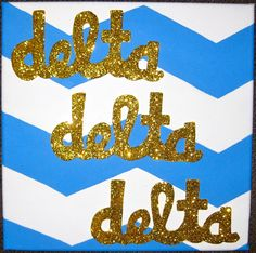 SO cute! Sorority Sign - Delta Delta Delta, Tri Delt, Tri Delta. $25.00, via Etsy.