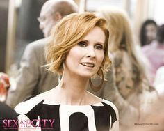 Miranda Hobbes (Cynthia Nixon) ~ Sex and the City (2008) I LOVE her earrings.