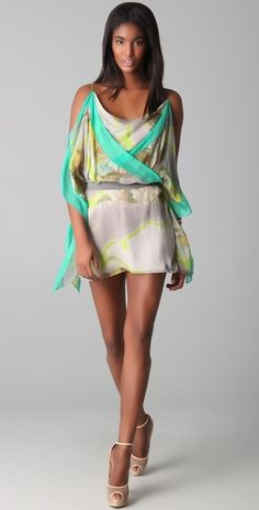 On-trend dress in fun summer colors, worthy of the admiration of fellow jet-setters in St. Tropez