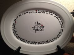 """""""The Giving Plate"""" • my first of many to come • made with oil based sharpies • baked at 350 for 30 minutes"""