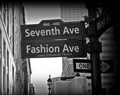 Fashion Ave  Seventh Ave New York City  NYC by AnneElizabethPhotos ON ETSY.