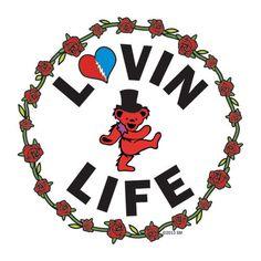 Grateful Dead Dancing Bear Lovin Life Sticker  #GratefulDead #deadhead #DancingBears