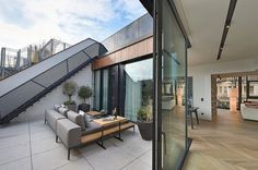 Completed in 2015 in Vienna, Austria  This rooftop extension gave us the possibility to create 3 apartments with different size, 190/170/90mq, and 2 terraces with swimming pool. The...