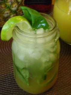 Mama Caruso's Mojito with Basil and Pineapple Juice - Recipe Detail - BakeSpace.com