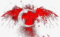 Bloody Eagle, Red, Eagle, Splash PNG Image