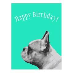 Pug Happy Birthday Postcard - birthday cards invitations party diy personalize customize celebration