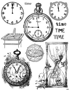 Free Printable Collage Sheets   the last door down the hall: Freebie - Collage Sheet - Time