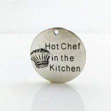 饰品配件 合金刻字 diy手工材料 厨师帽Hot Chef in the Kitchen