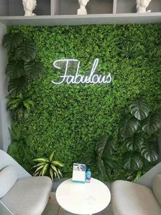 Green mat FOR BACKDROP WALL GREEN HEDGE flower wall – Viva La Rosa green grass mat for green hedge wall. Very versatile decoration with many uses, artificial grass attached to a bendable plastic frame. Hair Salon Interior, Salon Interior Design, Interior Office, Flower Wall Backdrop, Wall Backdrops, Flower Wall Decor, Flower Wall Design, Stage Backdrops, Backdrop Decor