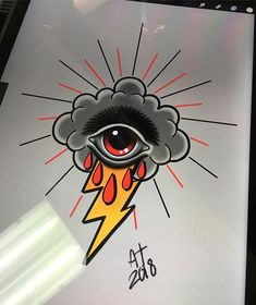 Summer storms . Available . #stormtattoo #tattooart #tattoo_art #tattoolove #tattoolife #tattooflash #tattoodesign #tattooaddict #tattooartist #spotswoodnj #moderntimestattoo #newjerseytattoo #newbrunswicktattoo #middlesexnj #njtattoo #njtattooartist #newtraditional #neotraditionaltattoo #tattoosnob