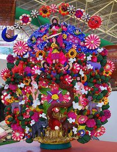 Mexican tree of life based on traditional Garden of Eden references. Arbol de Vida