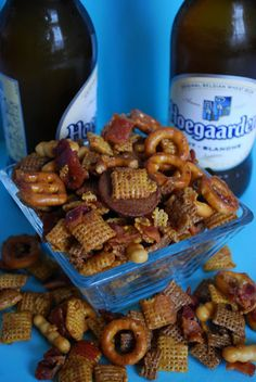 Bourbon Bacon Chex Mix