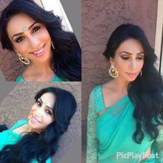 """A quick little video of @tinamann1 the day of her friends reception.  For makeup we went with a dramatic eye shadows from the #tamannapalette @anastasiabeverlyhills.  Lashes are from #lillylashes @lillyghalichi  Liner is black gel liner from #clinique Her choice of eyeliner was to go with the slight wing tipped liner.  Blush from Ben Nye palette.  1) #contour/#highlight is  cream foundation  #cinemasecretspro 2) set with the powder """" mineral/foundation  from # micabeauty 3) for more contrast…"""