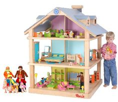 Does it get better than this?  Play on 4 sides... finished roof... big rooms... ahhhh... dream doll house.