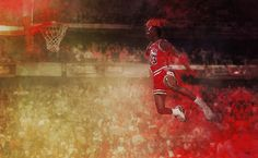 Rare Ink Michael Jordan Dunk Contest Art by Kxx