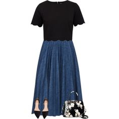 featuring Leur Logette, Ted Baker and Kate Spade (Lovely outfit! Skirt might be chambrey/jean) Cute Church Outfits, Cute Modest Outfits, Modest Wear, Classy Outfits, Skirt Outfits, Dress Skirt, Swag Dress, Stylish Outfits, Summer Outfits