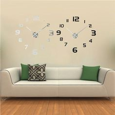 Hot sales Beautiful Design New Arrival 3D DIY Modern EVA Round Numbers Hours Clock Wall Sticker Home Decoration Decal