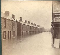 Floods Hart Lane Murray St junction Northern England, Old Street, Old Pictures, The Past, Illustrations, Times, History, Photos, Photography