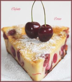 Clafoutis aux cerises léger - 10 of the best Italian pastries - Luca's Italy Desserts With Biscuits, Köstliche Desserts, Dessert Recipes, Hershey Recipes, Cherry Clafoutis, Italian Pastries, Sweet Pie, Cookbook Recipes, Fondant Cakes