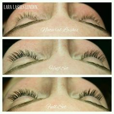 fbbef1f4d2d ... density for great definition and impact! See more. Natural Lashes to  Half Set to Full Set of eyelash extensions Half Set Eyelash Extensions,