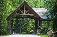 Carport Designs, Garage Design, Exterior Design, House Design, Carport Plans, Carport Garage, Porte Cochere, Garage Plans With Loft, Stone Driveway