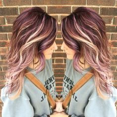 Hair Color And Cut, Haircut And Color, Cool Hair Color, Hair Color Ideas, Fall Hair Colors, Violet Hair, Purple Hair, Ombre Hair, Turquoise Hair