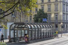 nestroyplatz subway station entrance on praterstrasse,vienna