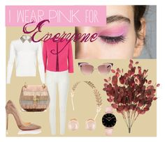 """""""go pink"""" by avanigadhia on Polyvore featuring River Island, Fenn Wright Manson, Christian Louboutin, Chloé, Yves Saint Laurent, Wet Seal and Kenneth Jay Lane"""