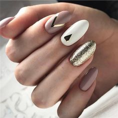 34 Trendiest and Newest Almond Nail Design You Must Have. Almond Nails Designs are a favorite style in the realm of manicure. Stiletto Nail Art, Matte Nails, Gold Nails, Acrylic Nails Almond Matte, Classy Nails, Simple Nails, Acrylic Nail Designs, Nail Art Designs, Manicure Natural