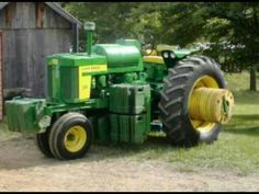 This tractor is weighted down