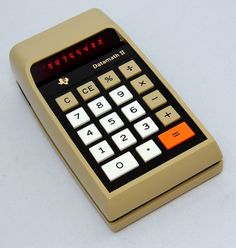 https://flic.kr/p/Hoxbe9   Vintage Texas Instruments Datamath II Electronic Pocket Calculator, Model TI-2500-II, Red LED Display, Made In USA, Circa 1974
