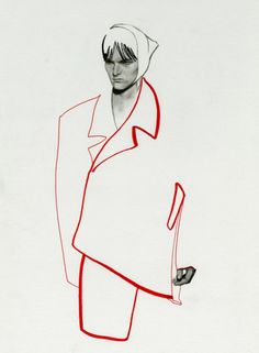 Fashion Illustration Speed Painting with Ink - Drawing On Demand Fashion Illustration Sketches, Illustration Mode, Fashion Sketchbook, Digital Illustration, Sketchbook Inspiration, Art Graphique, Grafik Design, Fashion Art, Drawing Fashion