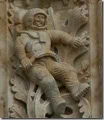Time travel- Here is what looks like an astronaut on a pillar at Salamanca Cathedral Church, which was started in the and finished in the Wow, it looks like an astronaut to me. If it isn't an astronaut, what could it be that they carved into this pillar? Unexplained Mysteries, Ancient Mysteries, Ancient Artifacts, Unexplained Phenomena, Aliens And Ufos, Ancient Aliens, Ancient History, Gunther Von Hagens, Nicola Tesla