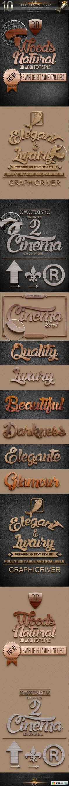 3D Collection Text Styles V.17