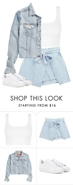 """Casual Outfit"" by mayalexia ❤ liked on Polyvore featuring Chicnova Fashion, H&M and adidas"