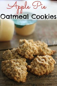 Apple Pie Oatmeal Cookie Recipe - The Frugal Navy Wife
