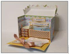 Скрапбукинг открытка для крещения ребенка