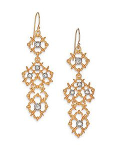 Alexis Bittar Elements Moonlight Crystal Spur Lace Drop Earrings