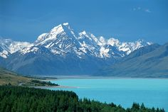 The highest peak in New Zealand, Aoraki Mount Cook is 3, 754m above sea level. Located in South Island. Māori legend says Aoraki was a young boy in a canoe stranded on a reef who was frozen by wind into stone, with his brothers, and they became the Southern Alps.