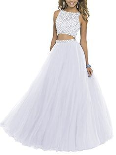 Lisa Two Piece Beading Bodice Prom Dresses 2016 Long Party Gowns Hand-made and Gorgeous design makes the dress appropriate for a homecoming, Prom,a Pretty Prom Dresses, Prom Dresses Two Piece, Evening Dresses Online, Prom Dresses 2016, Tulle Prom Dress, Ball Dresses, Cute Dresses, Ball Gowns, Prom Gowns