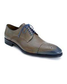 Tenori Taupe/ Blue Low Top Dress Shoe by Mezlan