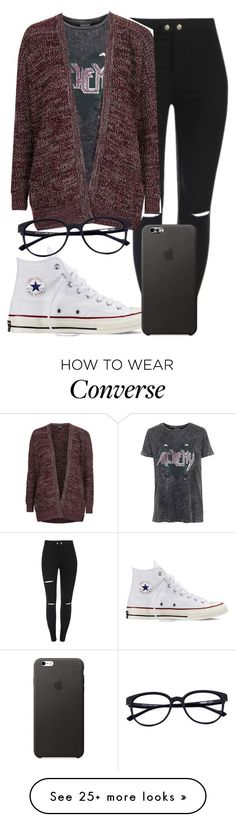 """¿ Going Native ¿"" by mallorimae on Polyvore featuring Topshop and Converse"