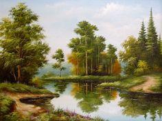 пейзажи горных рек и озер масло: 20 тыс изображений найдено в Яндекс.Картинках