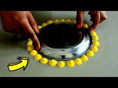 आपको बिल्कुल रंगोली बनाना नहीं आता तो Plate से बनाये दिवाली आसान रंगोली Easy rangoli 2019 - YouTube